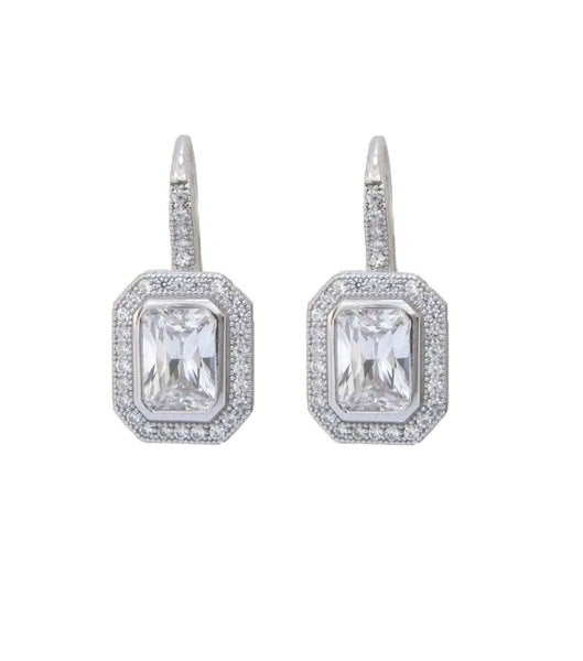 Vintage Style Cubic Zirconia Lever Back Earrings, earrings - Katherine Swaine