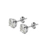 9ct White Gold Cubic Zirconia Stud Earrings, earrings - Katherine Swaine