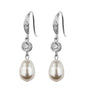 Crystal And Pearl Fish Hook Earrings - Katherine Swaine