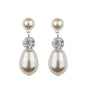 Diamante And Pearl Drop Earrings, earrings - Katherine Swaine
