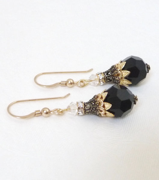 Filigree And Crystal Earrings - Katherine Swaine