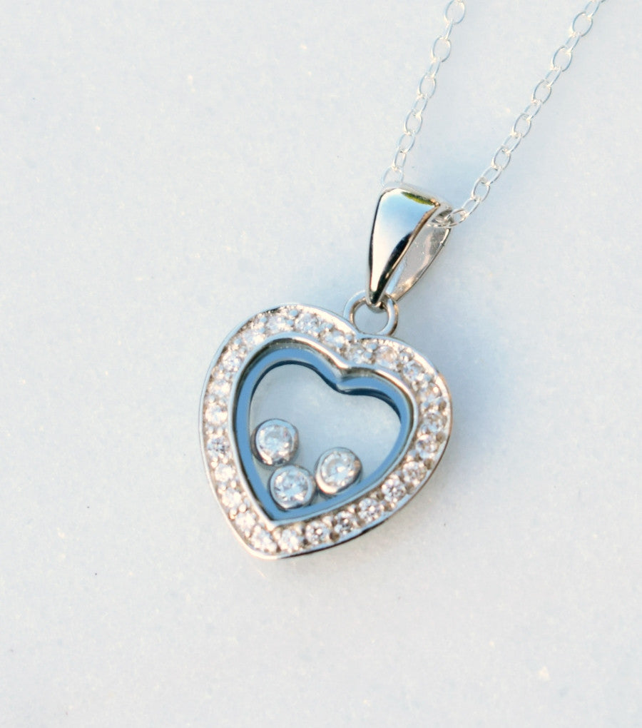 Pave silver heart pendant necklace katherine swaine pave silver heart pendant necklace necklace katherine swaine mozeypictures