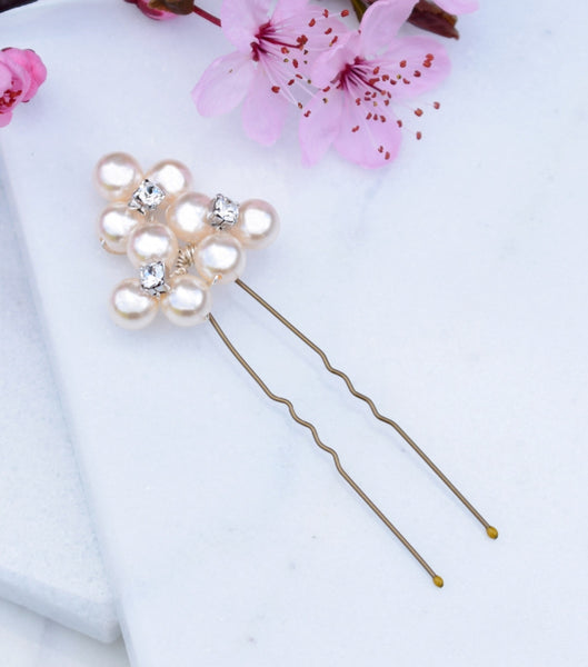 Pearl Cluster Hair Pin, Hair Pins and Grips - Katherine Swaine