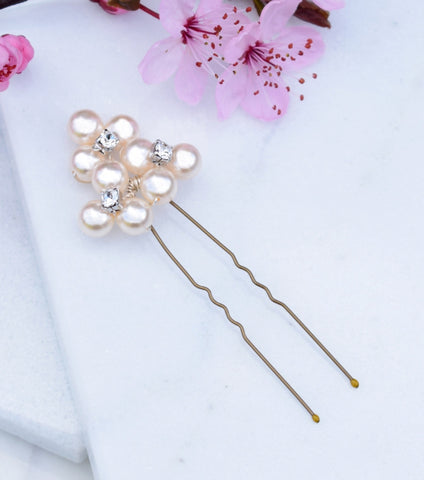 Pearl Cluster Hair Pin - Katherine Swaine