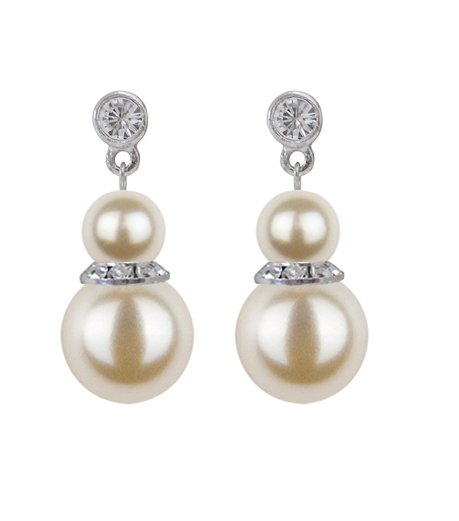 Pearl Drop Earrings, earrings - Katherine Swaine