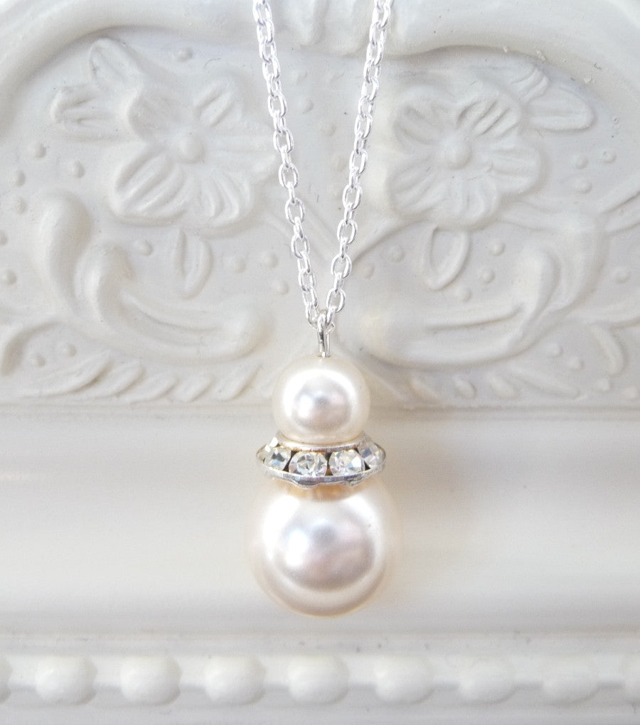 Pearl Drop Pendant Necklace, Necklace - Katherine Swaine