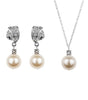 Rhinestone And Pearl Earring And Necklace Set, Jewellery Sets - Katherine Swaine