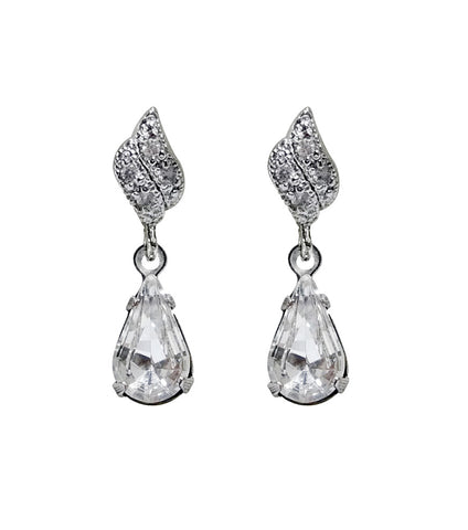 Rhinestone Drop Earrings, earrings - Katherine Swaine