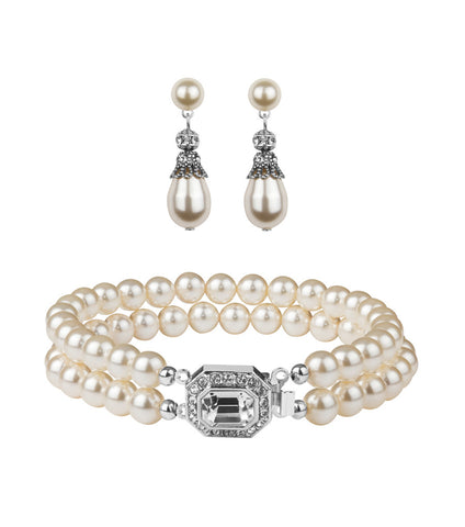Rhinestone Embellished Earring And Bracelet Set, Jewellery Sets - Katherine Swaine