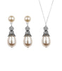 Rhinestone Embellished Pearl Earring and Necklace Set, Jewellery Sets - Katherine Swaine