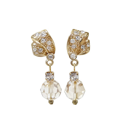 Crystal And Rhinestone Earrings, earrings - Katherine Swaine