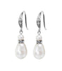 Teardrop Pearl And Crystal Fish Hook Earrings, earrings - Katherine Swaine