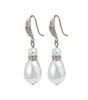 Rose Gold Teardrop Pearl And Crystal Earrings - Katherine Swaine