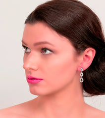Silver Trio of Pave Teardrop Earrings - Katherine Swaine