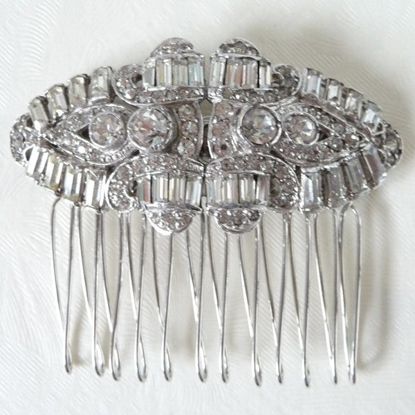 Vintage Art Deco Paste Hair Comb *SOLD*, Hair Comb - Katherine Swaine