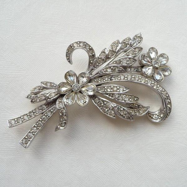 Vintage Flowers Brooch/Hair Comb *SOLD*, brooch - Katherine Swaine