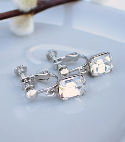 Katherine Swaine, Vintage Inspired Crystal Clip On Earrings