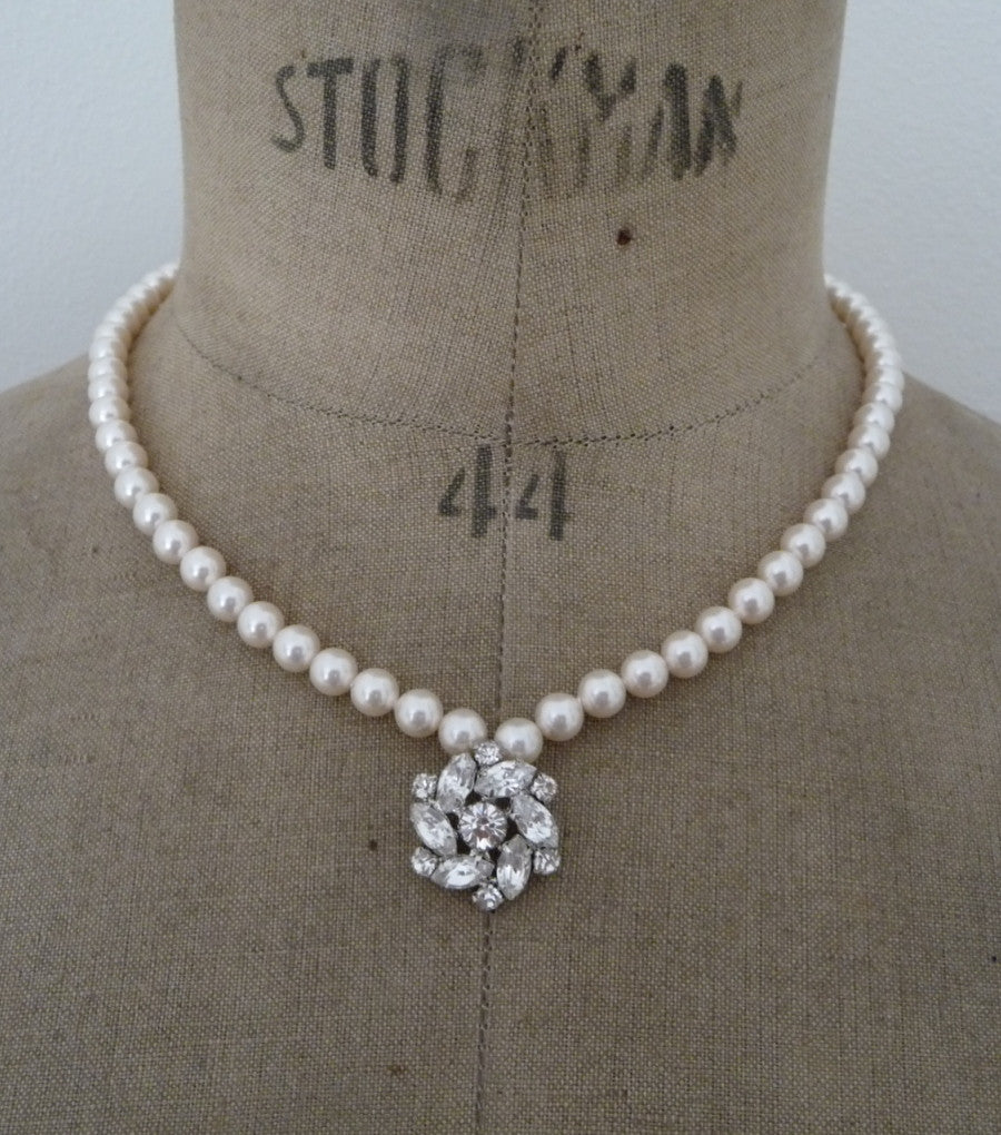 Vintage Inspired Necklace, Necklace - Katherine Swaine
