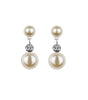 Vintage Inspired Round Pearl Drop Earrings, earrings - Katherine Swaine