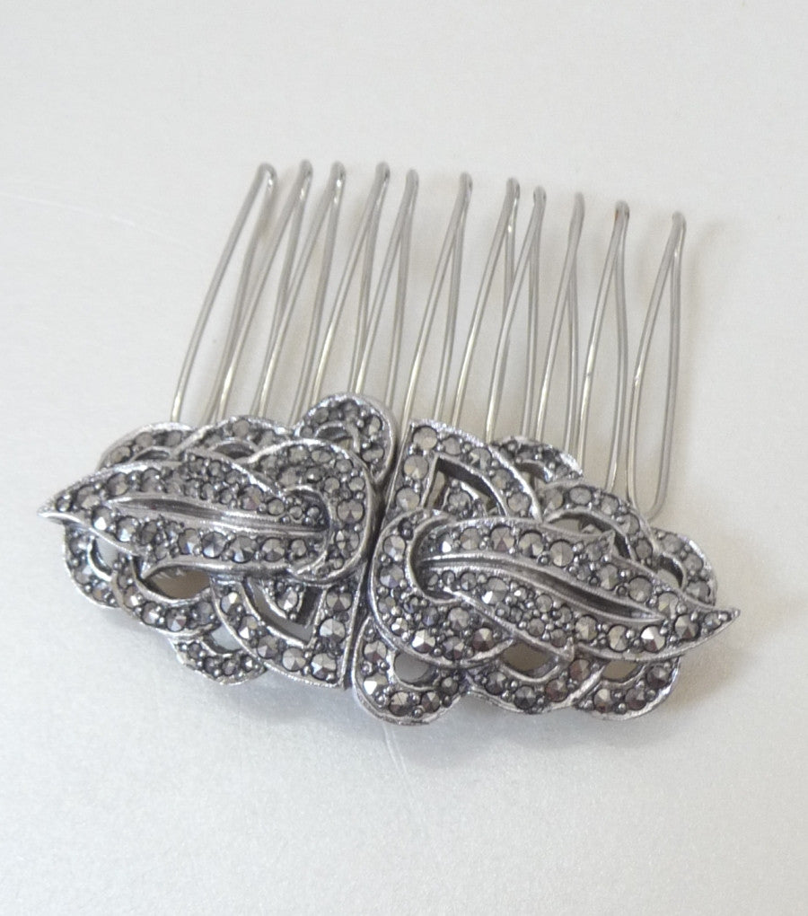 Vintage Marcasite Hair Comb *SOLD*, Hair Comb - Katherine Swaine
