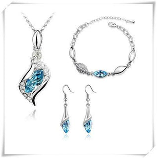 Jewelry - 18K White Gold Plated Austrian Crystal Eyes Jewelry Sets