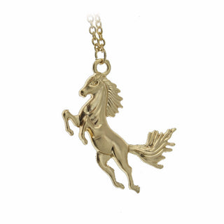 Vintage look horse pendant necklace