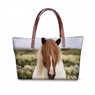 Large Horse Print Tote Bag