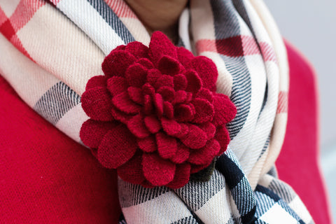 Cashmere flower scarf kuhfs | women's fashion accessory