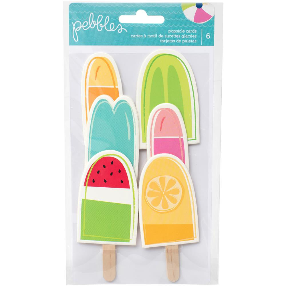 Pebbles Fun In The Sun Shaped Cards 6/Pkg