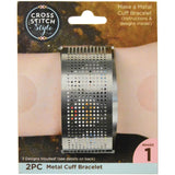 Metal Cuff Punched For Cross Stitch