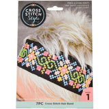 Stitchable Cross Stitch Hair Band - Black