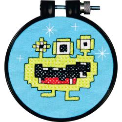 "Dimensions Stamped Cross Stitch Kit 3"" Monster"