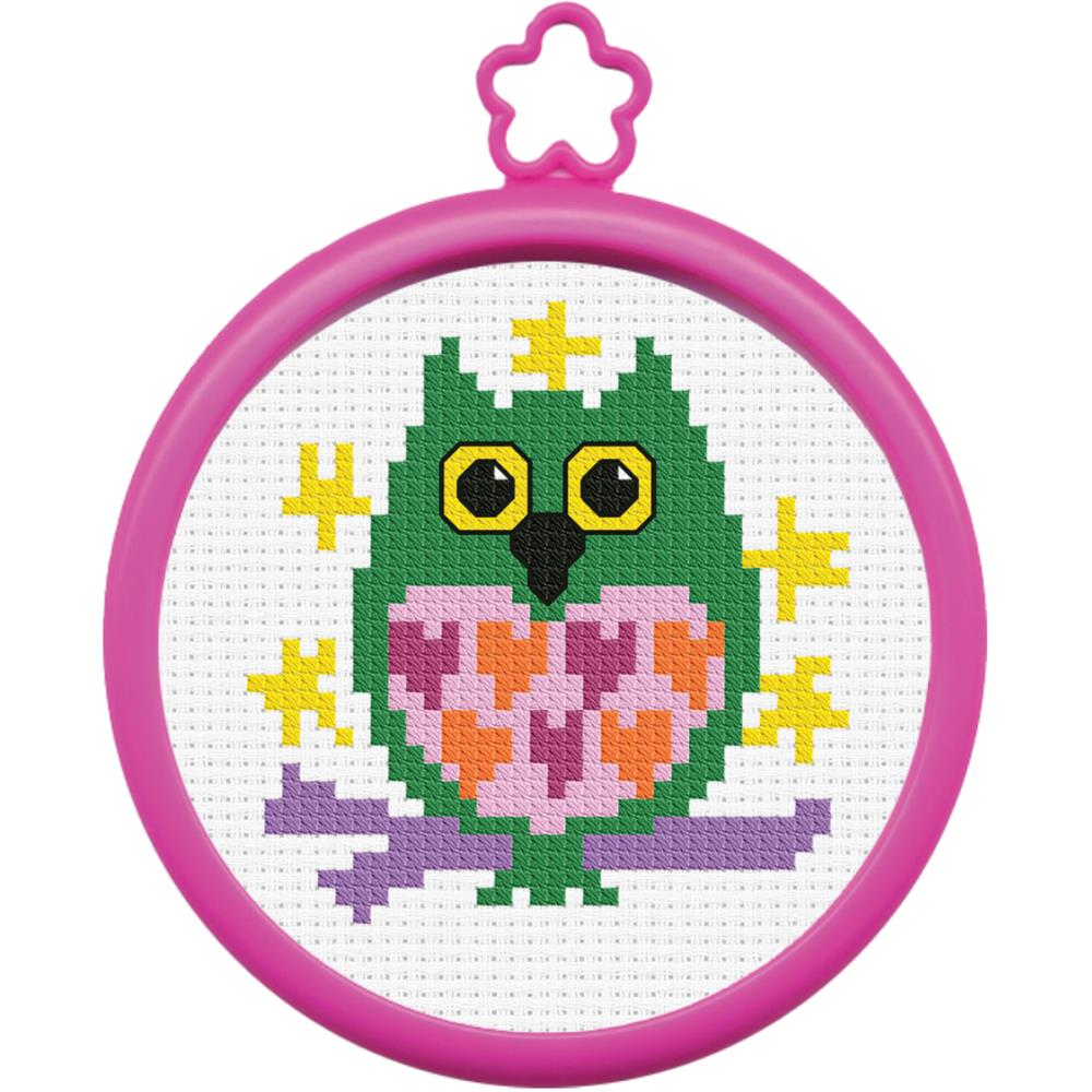 "My 1st Stitch Mini Counted Cross Stitch Kit 3"" Owl"