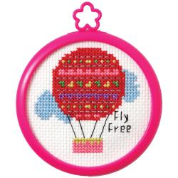 My 1st Stitch Fly Free Balloon Counted Cross Stitch Kit 3""