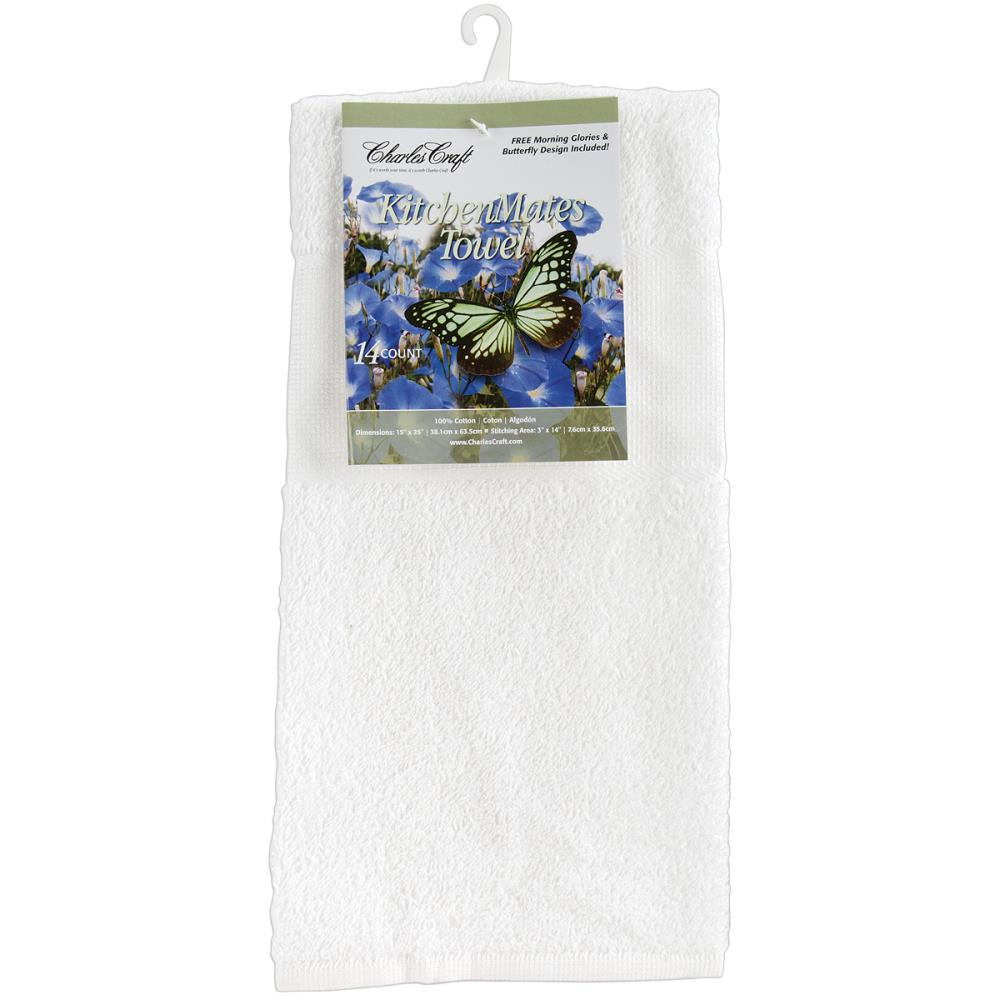 "Charles Craft Kitchen Mates Hemmed Towel 14 Count 15""X25"""