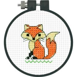 "Dimensions Counted Cross Stitch Kit 3"" Fox (11 Count)"