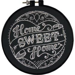 "Dimensions Stamped Embroidery Kit 6"" Home Sweet Home"