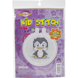 "Kid Stitch Counted Cross Stitch Kit 3"" Penguin (11 Count)"