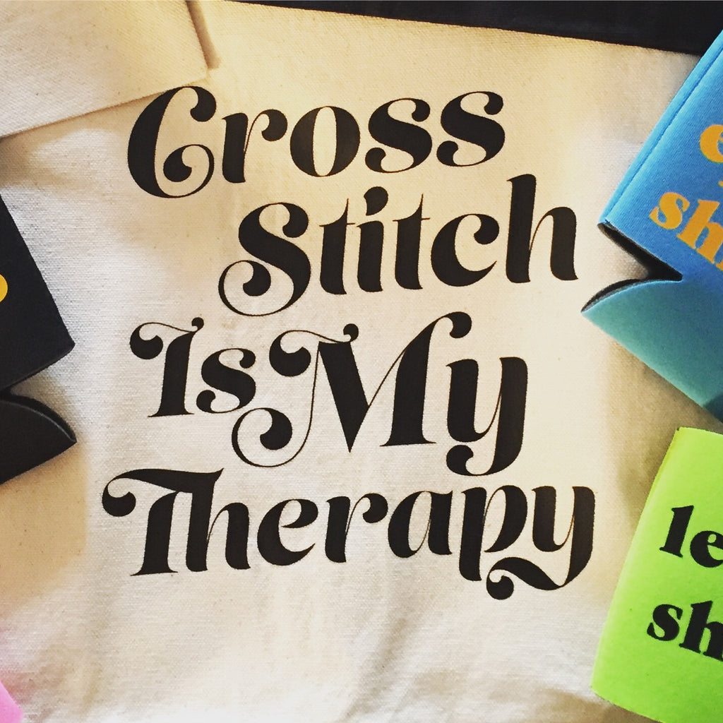 Cross Stitch Is My Therapy Tote Bag