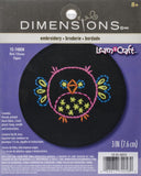 "Dimensions Stamped Embroidery Kit 3"" Owl"