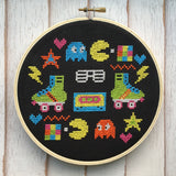80's Sampler Counted Cross Stitch DIY KIT