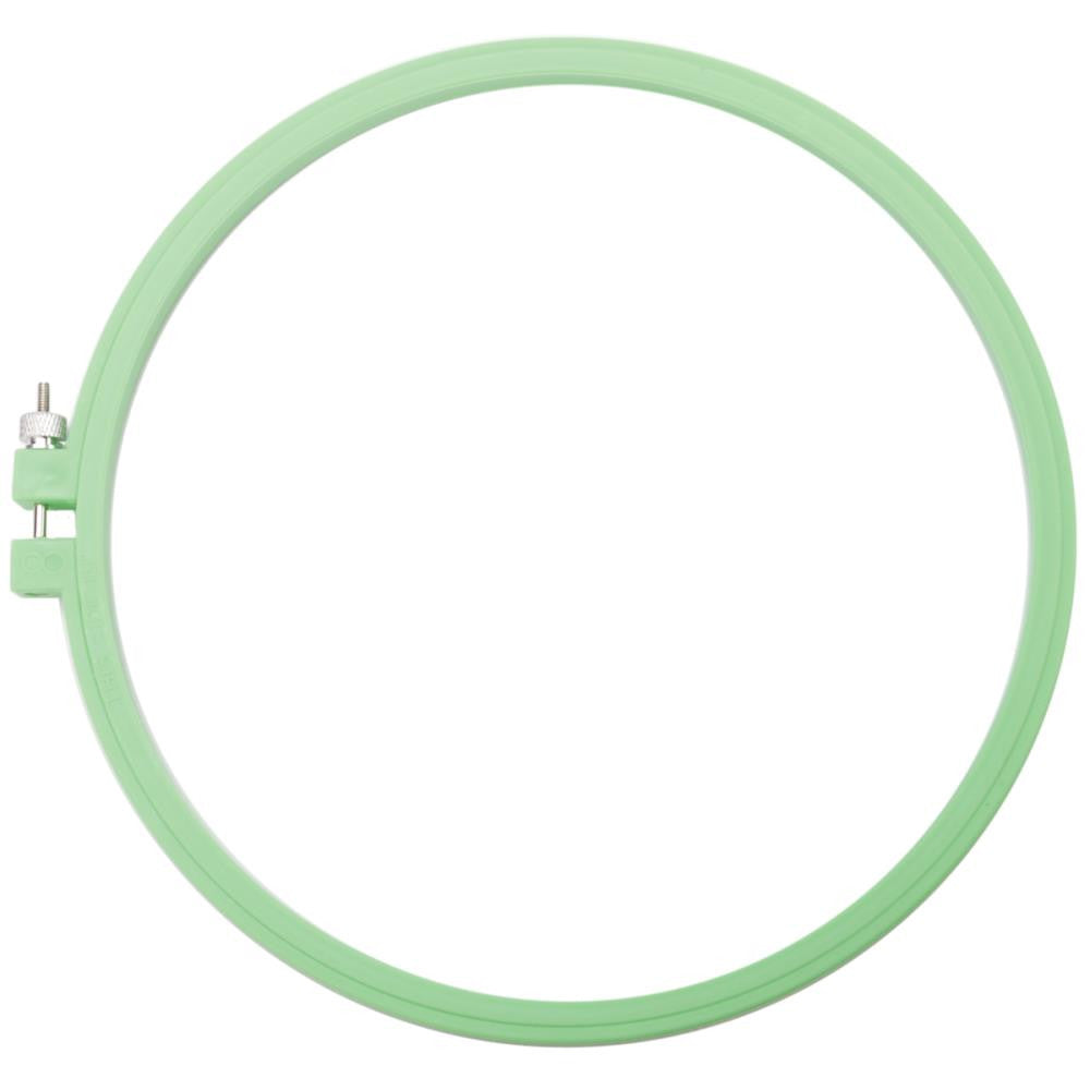 "Hoop-La Plastic Embroidery Hoop 8"" - Mint Green"