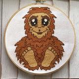 Bigfoot Sasquatch Counted Cross Stitch DIY KIT Intermediate