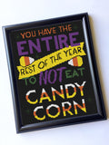 Eat Candy Corn Halloween Counted Cross Stitch Pattern Download Intermediate
