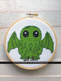 Cute Cthulhu Counted Cross Stitch Pattern DIGITAL Download Intermediate