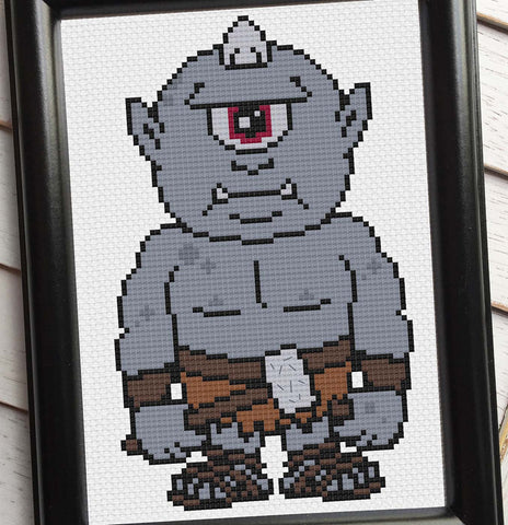 Cyclops Counted Cross Stitch DIY KIT