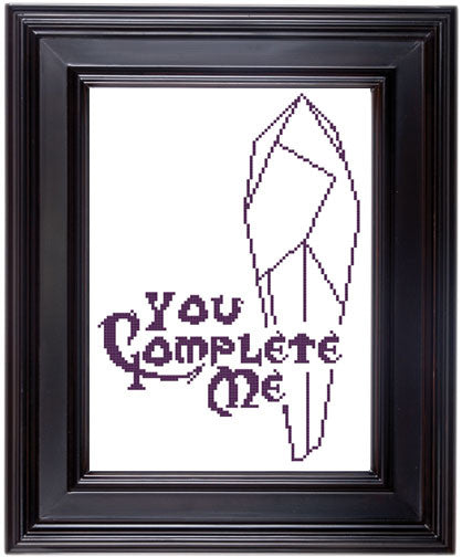 The Dark Crystal You Complete Me Movie Film Cross Stitch DOWNLOAD Pattern and Instructions