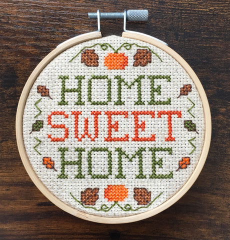 Home Sweet Home Fall Counted Cross Stitch PATTERN DOWNLOAD