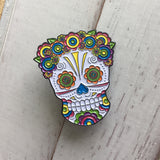 soft enamel pin sugar skull