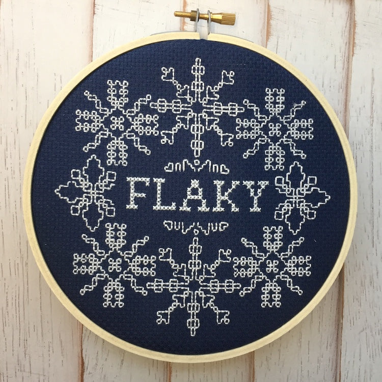 Flaky Counted Cross Stitch DOWNLOAD pattern Intermediate